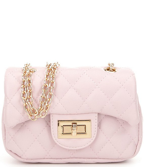 Popatu Pink Quilted Handbag - Popatu pageant and easter petti dress