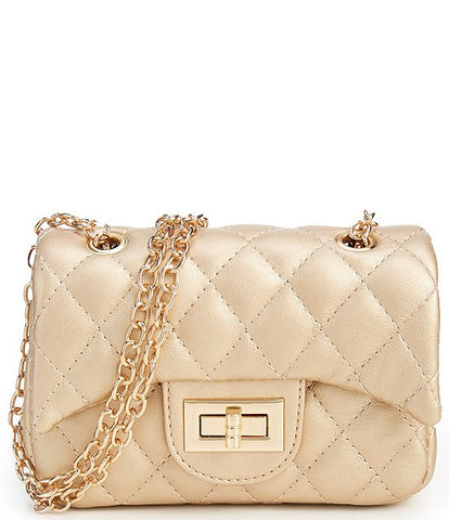 Popatu Gold Quilted Handbag - Popatu pageant and easter petti dress
