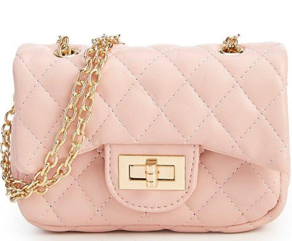 Popatu Rose Quilted Handbag - Popatu pageant and easter petti dress