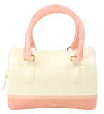 Popatu White & Peach Jelly Purse - Popatu pageant and easter petti dress