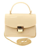 Popatu Ivory Jelly Purse with Cross-body Strap - Popatu pageant and easter petti dress