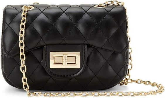 Popatu Black Quilted Handbag - Popatu pageant and easter petti dress