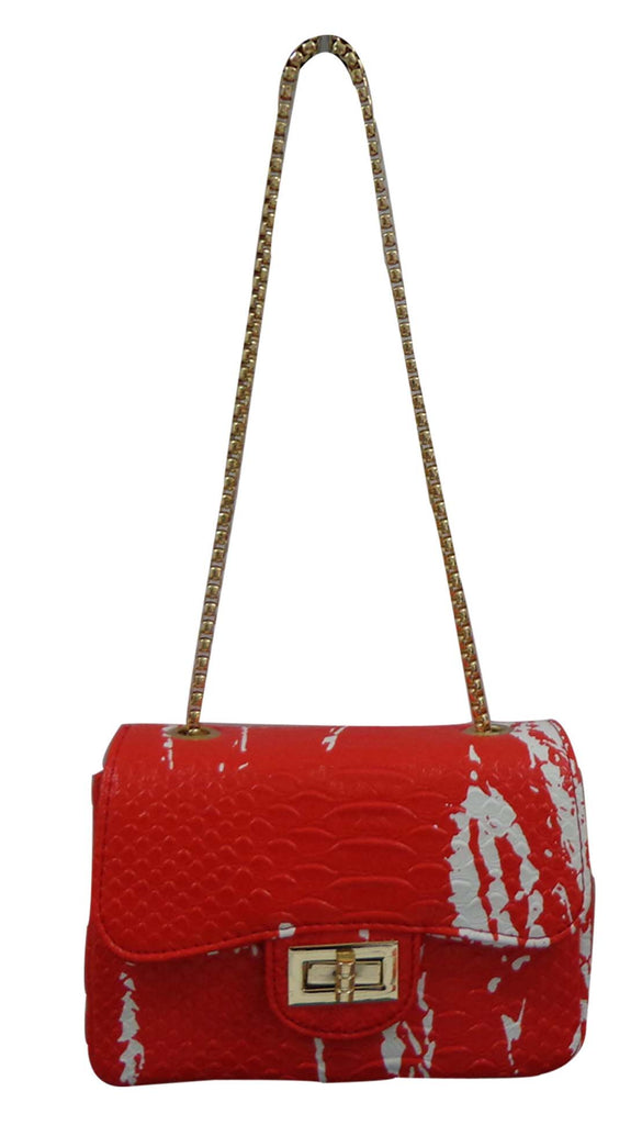 Popatu Red Snake Handbag - Popatu pageant and easter petti dress