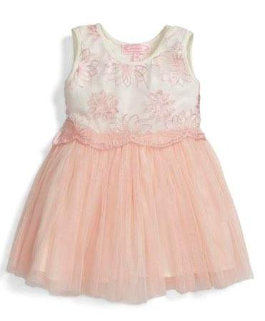 Popatu Baby Girls Shimmery Overlay Tulle Dress - Popatu pageant and easter petti dress