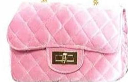Popatu Velvet Pink Handbag - Popatu pageant and easter petti dress