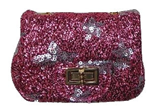 Popatu HotPink Stars Sequin Handbag - Popatu pageant and easter petti dress