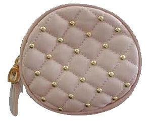 Popatu Pink Quilted Round Crossbody Handbag - Popatu pageant and easter petti dress