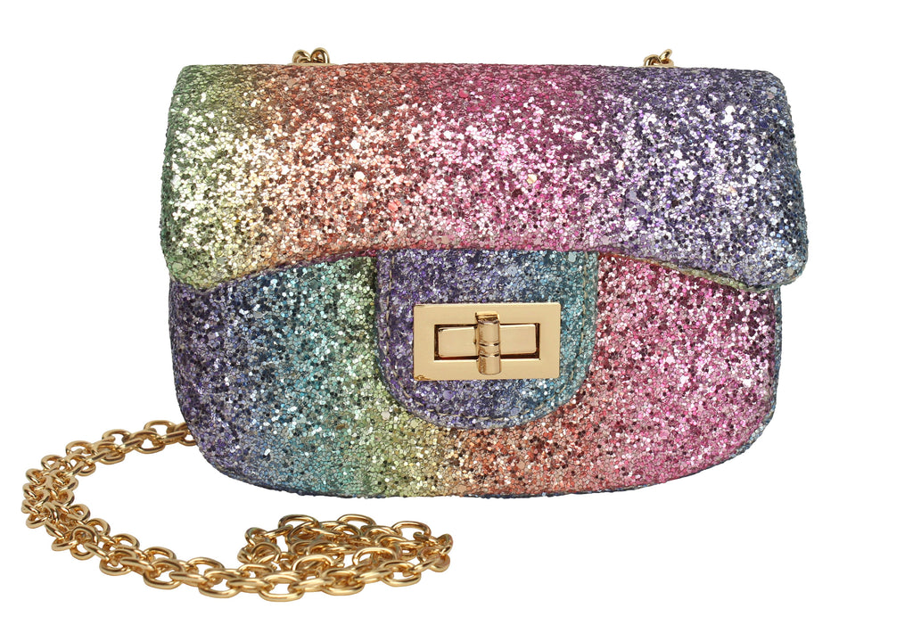 Rainbow Glitter Handbag - Popatu pageant and easter petti dress