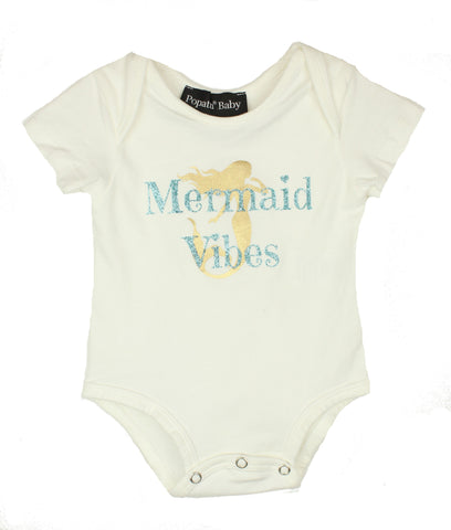 Popatu Infant Bodysuit Mermaid Vibes - Popatu pageant and easter petti dress