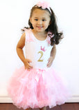 Popatu Little Girls 2nd, 3rd, 4th Birthday Ruffle Dress - Popatu pageant and easter petti dress