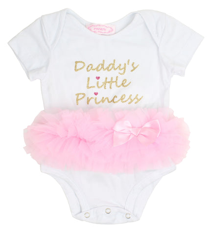 Daddy's Little Princess Ruffle Bodysuit - Popatu pageant and easter petti dress