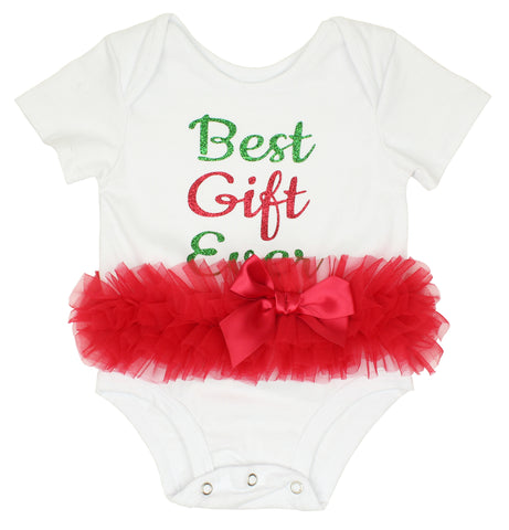 Best Gift Ever Christmas Tutu Bodysuit