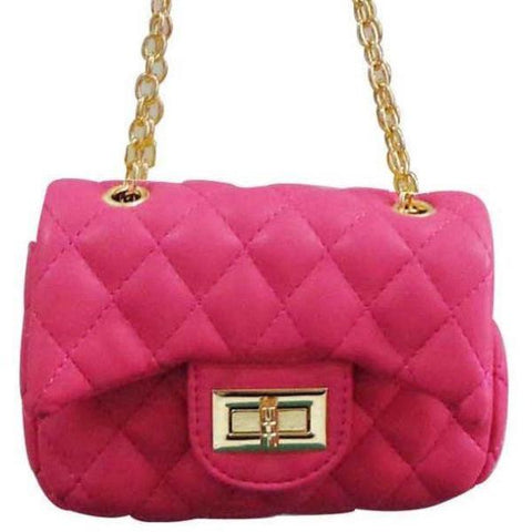 Popatu Hot Pink Handbag - Popatu pageant and easter petti dress