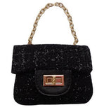 Popatu Black Handbag - Popatu pageant and easter petti dress