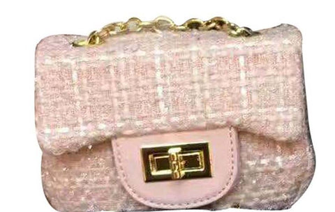 Popatu Pink Fabric  Handbag - Popatu pageant and easter petti dress
