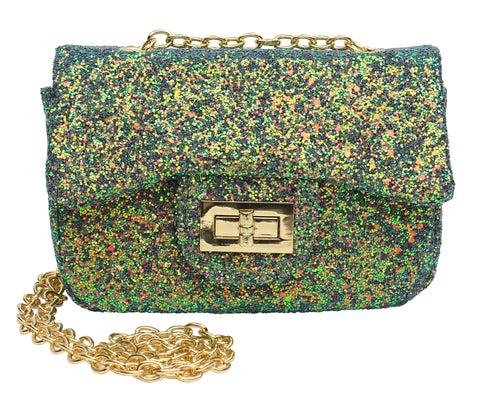 Popatu Green Sequin Handbag - Popatu pageant and easter petti dress