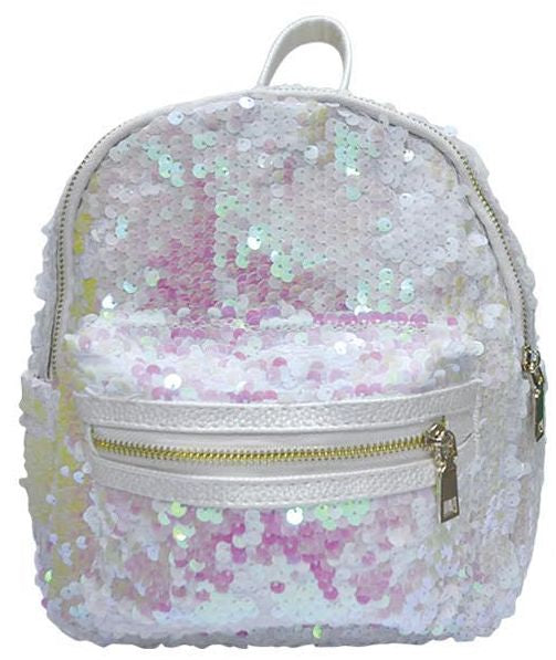 Popatu Sequin White Mini Backpack - Popatu pageant and easter petti dress