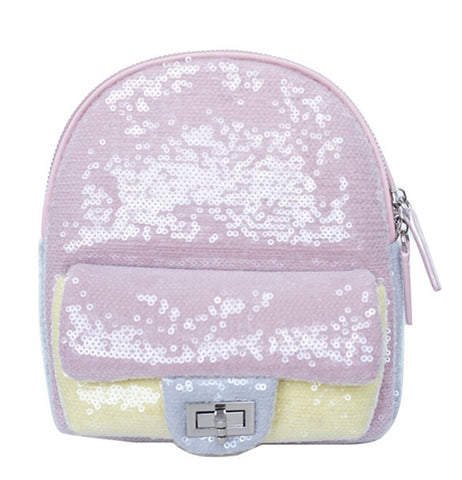 Popatu Pink & Yellow Sequin Mini Backpack - Popatu pageant and easter petti dress