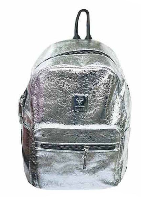 Popatu Metallic Silver Mini Backpack - Popatu pageant and easter petti dress