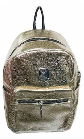 Popatu Metallic Gold Mini Backpack - Popatu pageant and easter petti dress
