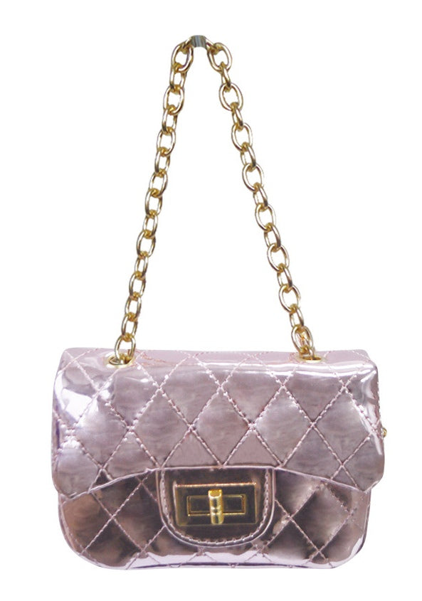 Metallic Foil Cross Body Bag