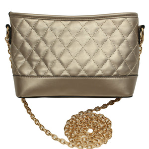 Bronze Quilted Purse