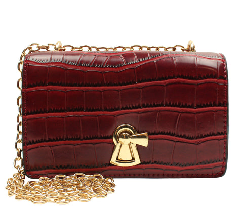 Popatu Red Snake Handbag