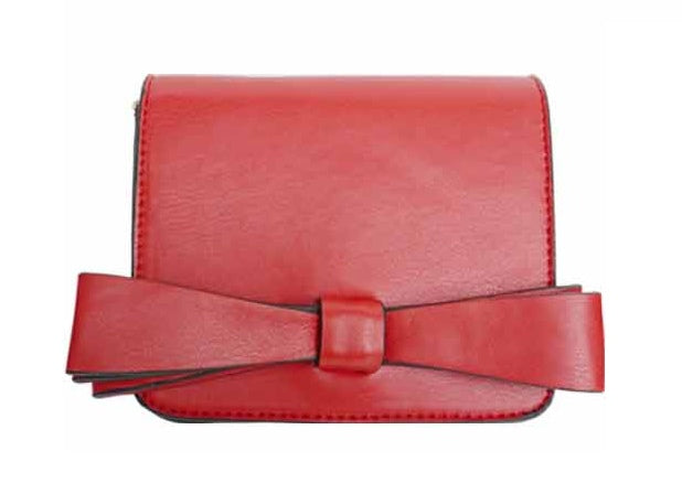 Popatu Red Bow Crossbody Handbag - Popatu pageant and easter petti dress