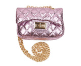Pink Metallic Cross Body Purse - Popatu