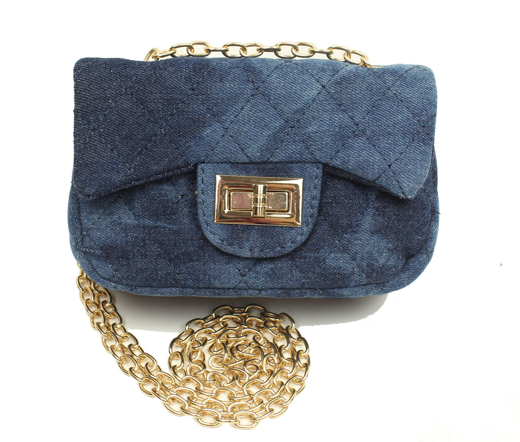 Popatu Dark Denim Handbag