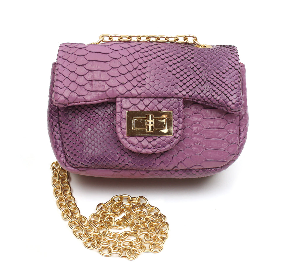 Popatu Purple Snake Handbag