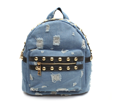 Little Girls Denim Backpack