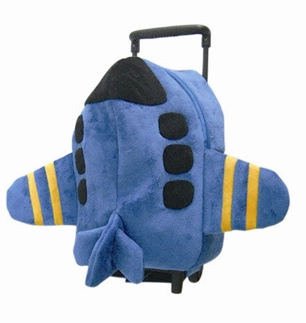 Popatu Blue Trolley Backpack with Blue Airplane - Popatu pageant and easter petti dress