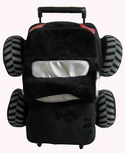 Popatu Black Monster Truck Rolling Backpack - Popatu pageant and easter petti dress