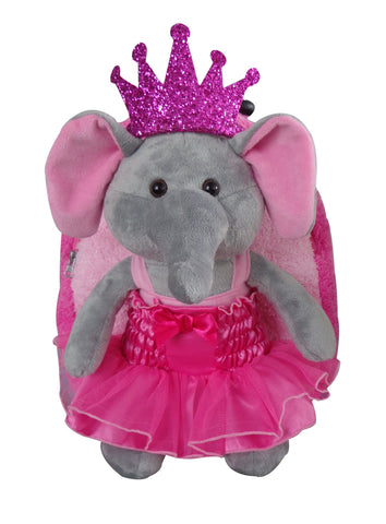 Popatu Pink Trolley Backpack with Princess Elephant - Popatu pageant and easter petti dress