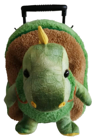 Popatu Boys Green Rolling Backpack Dino Stuffed Animal - Popatu pageant and easter petti dress