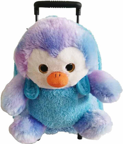 Popatu Blue Rolling Backpack with Penguin - Popatu pageant and easter petti dress