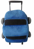 Popatu Kid's Blue Car Rolling Backpack