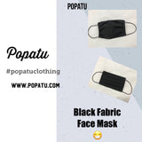 Black Fabric Face Mask (Adult/Child) - Popatu pageant and easter petti dress