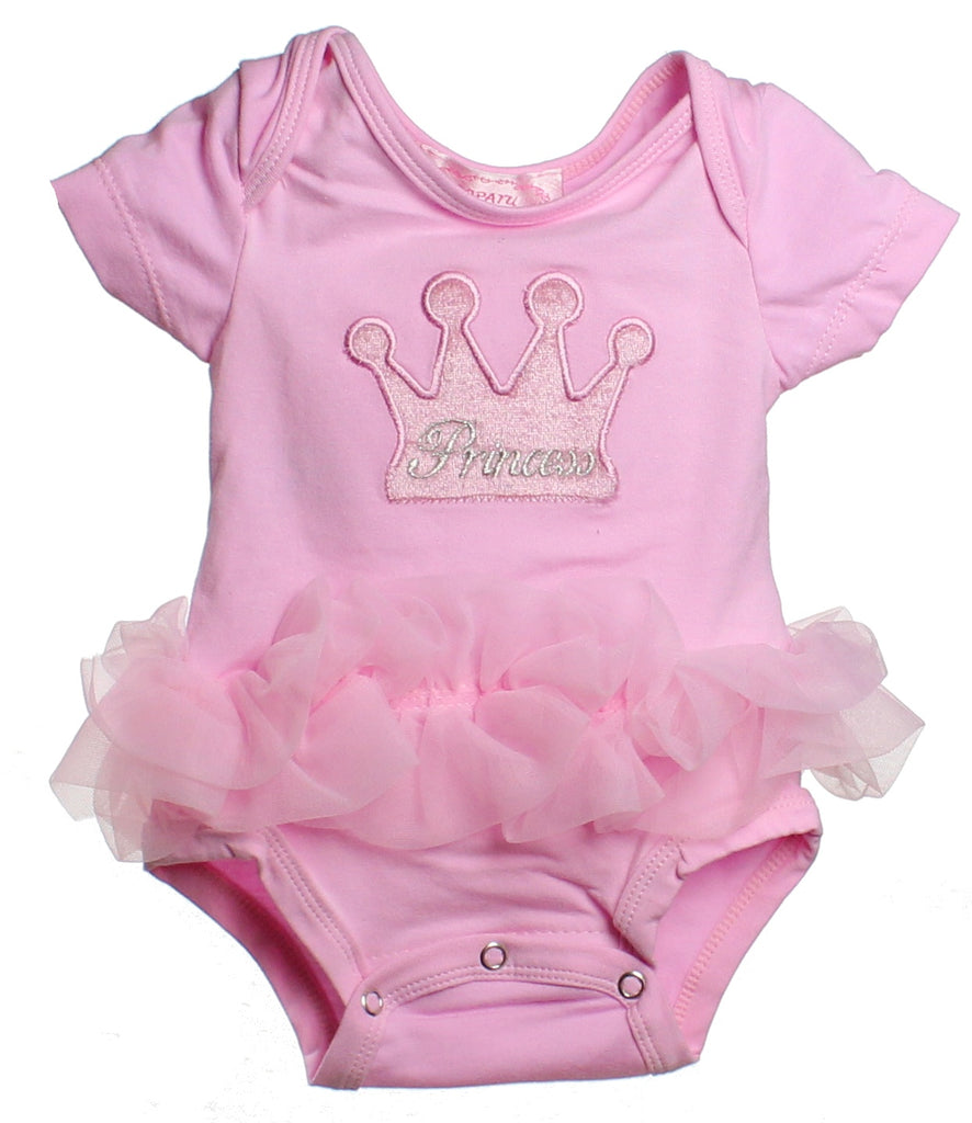 e15e5e9908932 Popatu Baby Tutu Bodysuit Pink Princess Crown - Popatu pageant and easter  petti dress