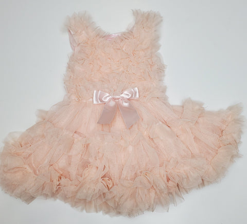 Popatu Little Girls Dusty Rose Special Ruffle Petti Dress - Popatu pageant and easter petti dress