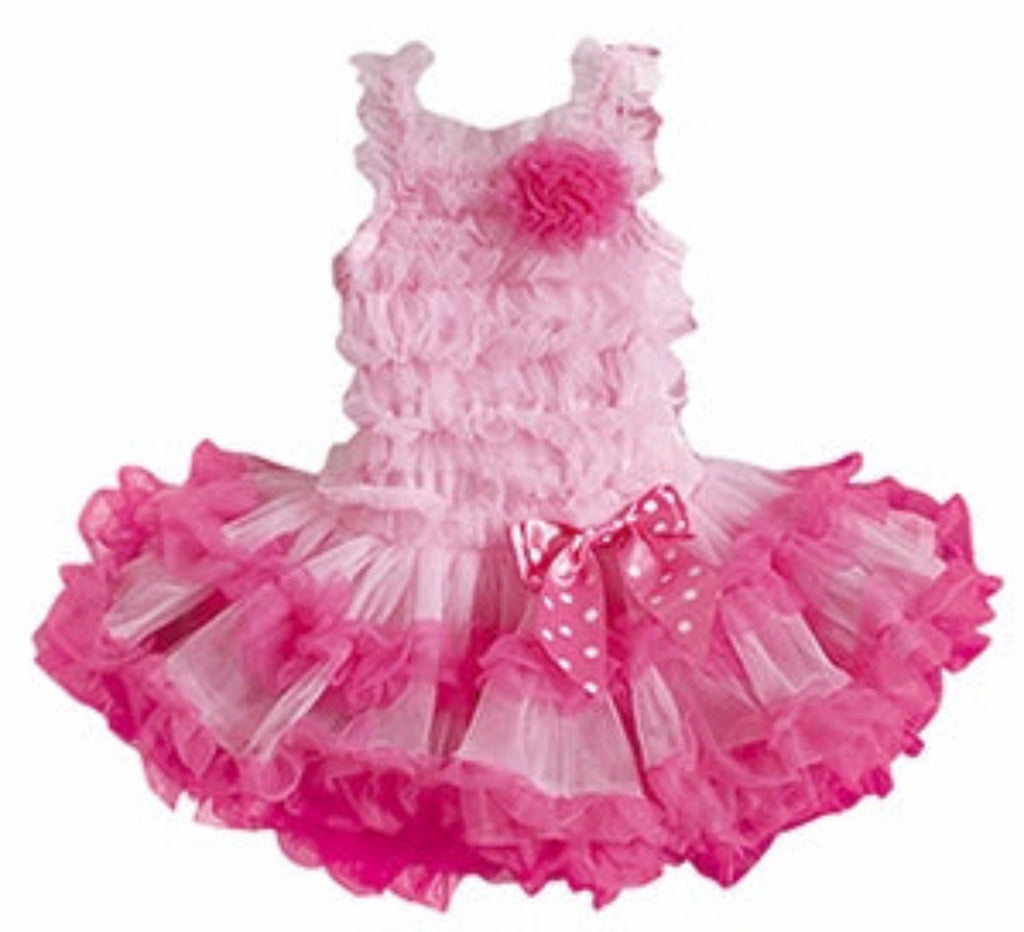 Popatu Little Girls Pink Ruffle Petti Dress. - Popatu pageant and easter petti dress