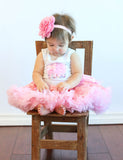 Popatu Baby Birthday Petti Ruffle Dress with Cupcake - Popatu pageant and easter petti dress