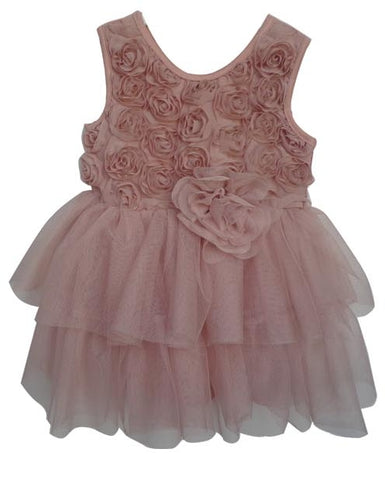 Popatu Baby Tulle Dress Dusty Pink Mini Tutu - Popatu pageant and easter petti dress