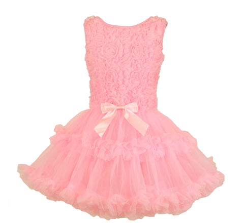 Popatu Little Girls Rose Petti Dress - Popatu pageant and easter petti dress
