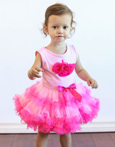 Popatu Baby Girls Hotpink Cupcake Ruffle Dress - Popatu pageant and easter petti dress