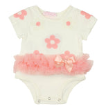 Popatu Baby Dress Pink Daisies Tutu - Popatu pageant and easter petti dress