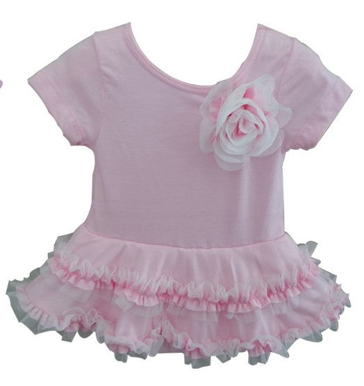 Popatu Baby Tutu Bodysuit Spunky Pink Tutu - Popatu pageant and easter petti dress