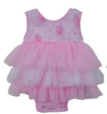 Popatu Baby Tutu Bodysuit Pinky Pink Tutu - Popatu pageant and easter petti dress