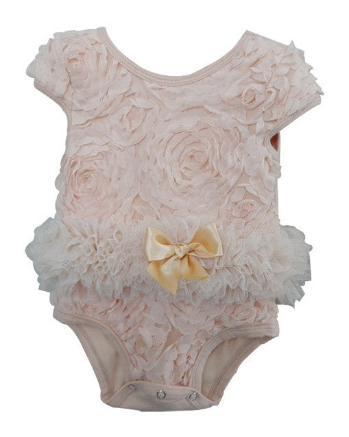 Popatu Baby Tutu Bodysuit Ivory Soutache - Popatu pageant and easter petti dress